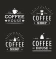 Set of vintage coffee logo templates vector image
