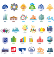 biggest collection of logos cities vector image