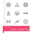 car parts icons set vector image