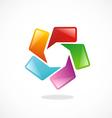circle speech talk color logo vector image