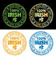 100 percent Irish vector image vector image
