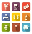 Beer and snacks vector image