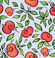 background with apples vector image vector image