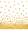 Gold seamless pattern for St Patricks day vector image