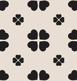 Monochrome seamless pattern with clover leaves the vector image vector image