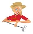 Woman farmer vector image