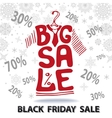 Big Sale letteringTee Shirt Black friday vector image