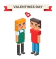 Boy and girl happy family couple in love vector image