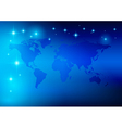 bright blue background - world map with stars vector image