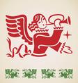 Christmas Angel vintage design element vector image