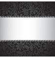 Dark lace card vector image