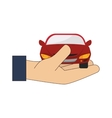 hand car holding icon graphic vector image