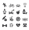 health icon set vector image