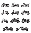 Motorcycle Types Objects Icons Set vector image