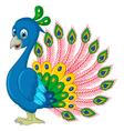 Peacock cartoon for you design vector image