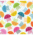 Seamless pattern with jellyfish vector image