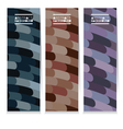 Set Of Three Abstract Colorful Vertical Banners vector image
