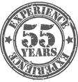 Grunge 55 years of experience rubber stamp vector image