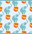 circus funny performance elephant animal vector image