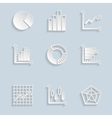 Paper Diagram Icons Set vector image vector image
