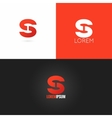 letter S logo design icon set background vector image