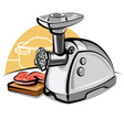 electric meat grinder vector image vector image