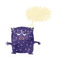 cartoon little alien with speech bubble vector image