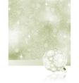 Elegant Christmas balls on abstract  EPS 8 vector image