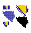 Map Bosnia vector image