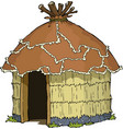 native hut vector image