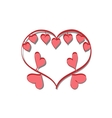romantic frame Valentine day doodle vector image