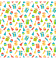 Seamless bright fun celebration festive pattern vector image