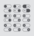 set of switch icons flat icon switch buttons on vector image