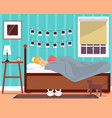 sleeping young girl flat vector image