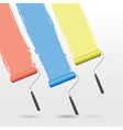 paint roller background vector image
