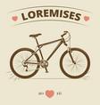 vintage bicycle logo or print design vector image