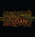 loan process steps text background word cloud vector image