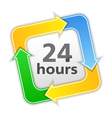 24 hours icon vector image