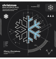 Christmas snowflake infographic design vector image vector image