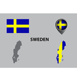 Map of Sweden and symbol vector image