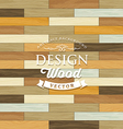 Vintage Tile wood floor striped concept vector image vector image