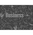 Business chalk vector image