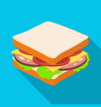 a sandwich with bread and sausageburgers and vector image