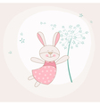 Baby Shower or Arrival Card - Baby Bunny vector image