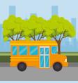 bus public transport icon vector image