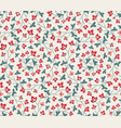 floral seamless pattern jacobean style flowers vector image
