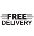Free delivery Text vector image