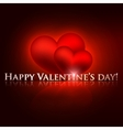 happy valentines day holiday background with red vector image