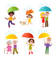 set of happy smiling people with colorful vector image