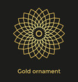 the golden colored ornament mandala vector image